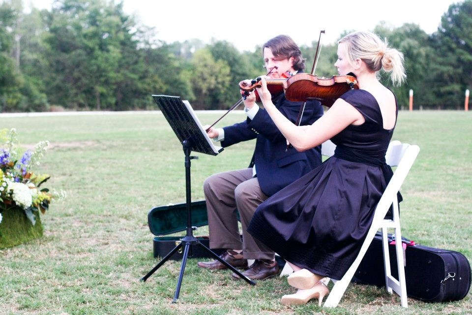 string quartet shreveport violin couple wedding music singing married bride outdoor