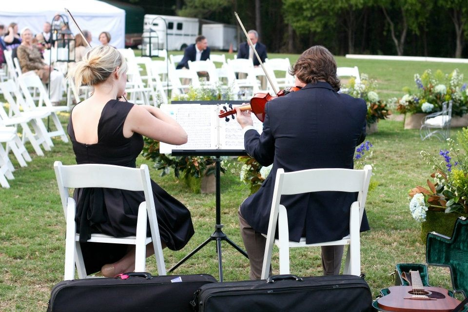 string quartet shreveport wedding outdoor